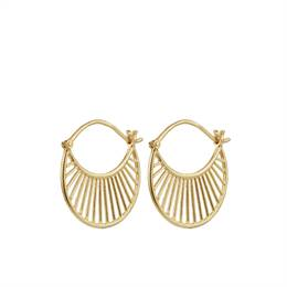 Pernille Corydon small daylight earrings - forgyldt