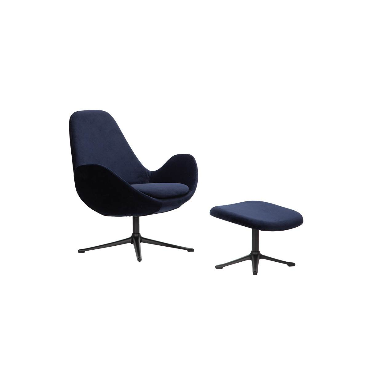 Theca Ghost fodskammel 2374 Dark blue super velvet