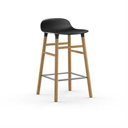 Normann Copenhagen Form barstol - Sort/eg