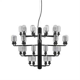Normann Copenhagen - Amp Chandelier large - smoke/black