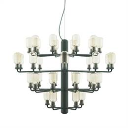 Normann Copenhagen - Amp Chandelier large - gold/green