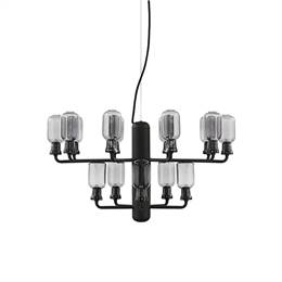 Normann Copenhagen - Amp Chandelier small - smoke/black