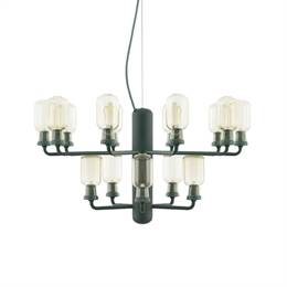 Normann Copenhagen - Amp Chandelier small - gold/green