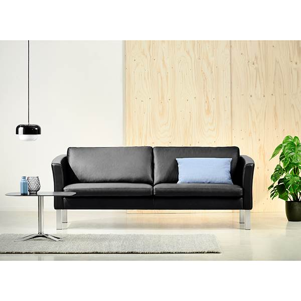 Stouby Ace sofa 2+3 pers. med sort læder