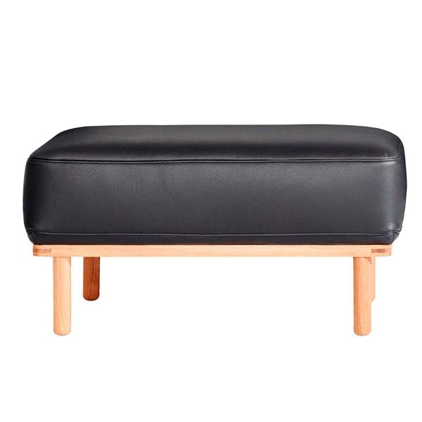 Andersen Furniture A1 puf - sort læder