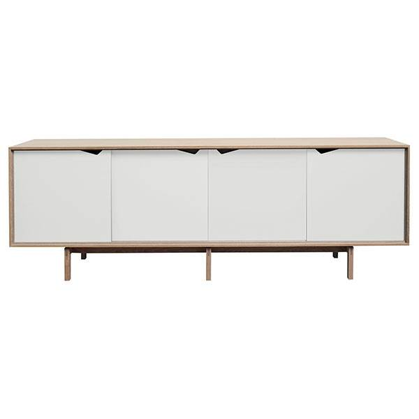 Andersen Furniture S1 Sideboard Eg Sæbe - Hvide fronter