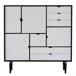 Andersen Furniture S3 reol Hvide fronter - Sort