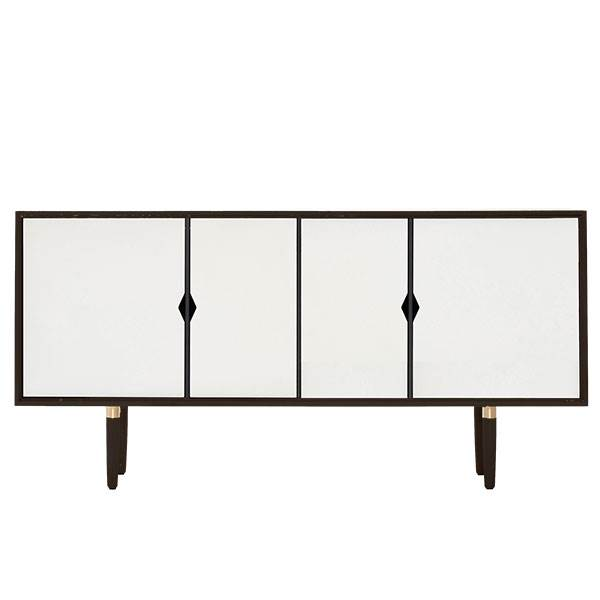 Andersen Furniture S7 skænk - Sort - Hvide fronter