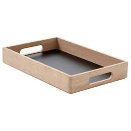 Andersen Furniture Serveringsbakke - Eg - Sort - 36 x 24 cm.
