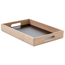 Andersen Furniture Serveringsbakke - Eg - Sort - 40 x 28 cm.