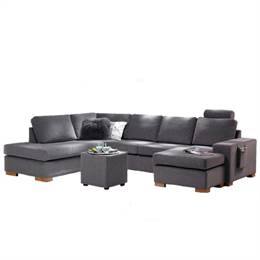 Top-line - Atlanta U-sofa - Lysegraa