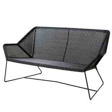 Cane-line Breeze 2-personers havesofa - sort