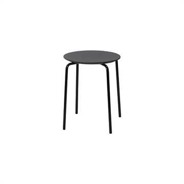 Ferm Living Herman taburet - charcoal/sort