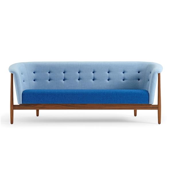 Nanna Ditzel Vita sofa – 3 personers, valnød