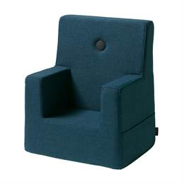 By KlipKlap KK Kids Chair Dark Blue w black