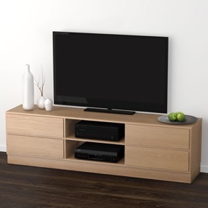 Klim Furniture M440 TV-bord - eg hvidolieret