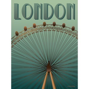 ViSSEVASSE LONDON Eye plakat