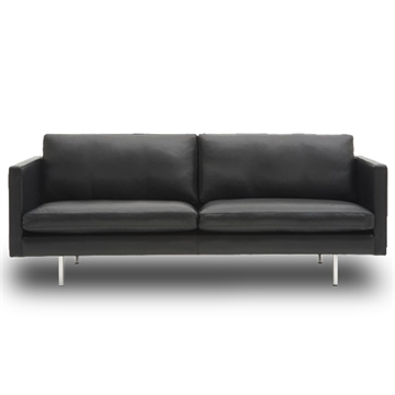Nielaus Handy 2,5 pers. sofa - sort læder