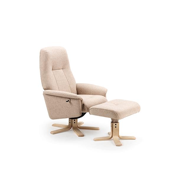 Billede af O.P. Møbler Relax seniorstol - beige stof