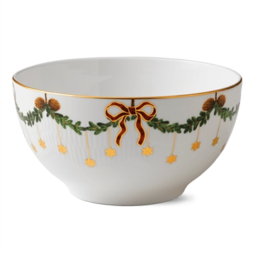 Royal Copenhagen Stjerne Riflet Jul skål - 180 cl