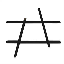 Andersen Furniture A-Shelf Hylde - Stor - Sort