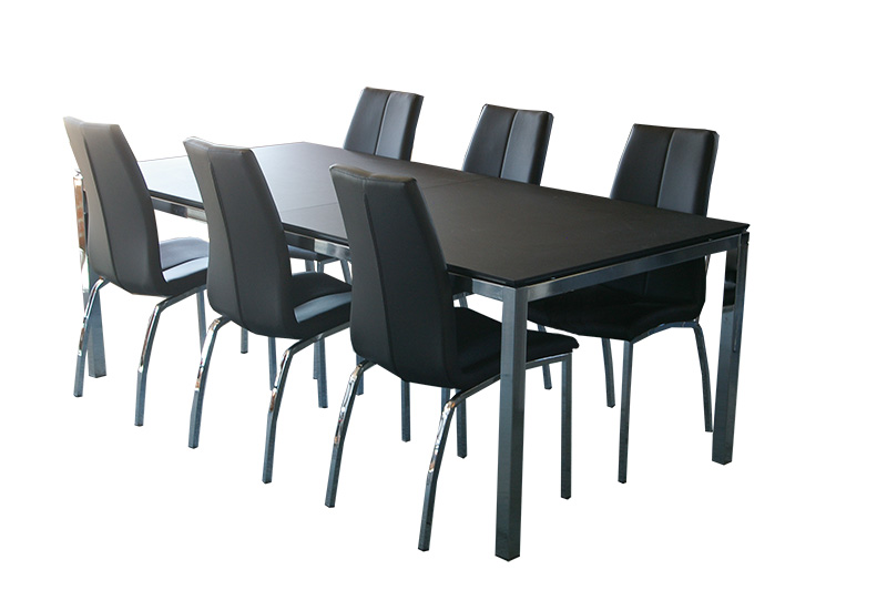 Ansager AM215 linoleum m. 6 stk. Lazzimo spisebordsstole