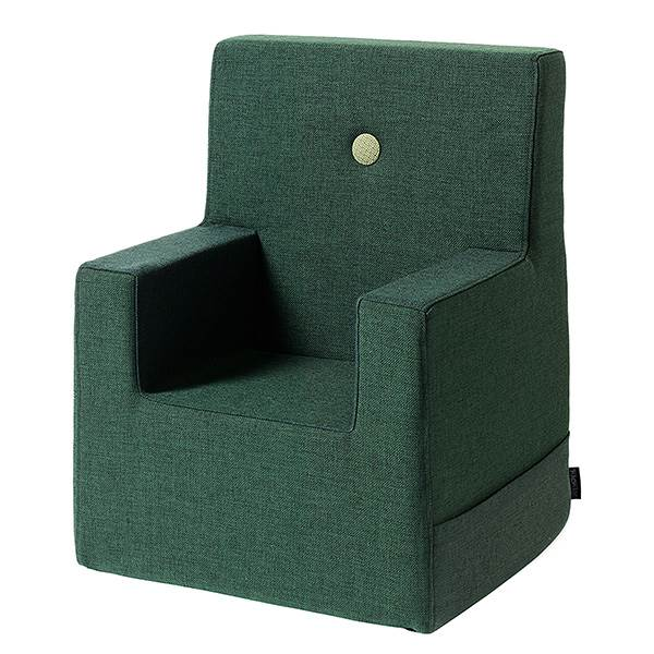 By KlipKlap KK Kids Chair XL Deep green w. light green
