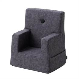 By KlipKlap KK Kids Chair Blue Grey w Grey Buttons