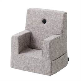 By KlipKlap KK Kids Chair Multi Grey w Grey Buttons