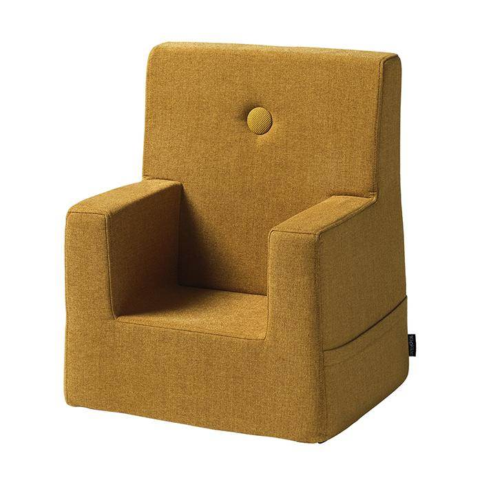 By KlipKlap KK Kids Chair Mustard w. Mustard Button