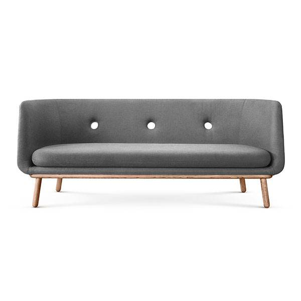 Eva Solo Furniture Phantom 3 personers sofa – grå, olieret eg