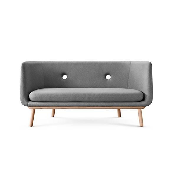 Eva Solo Furniture Phantom 2 personers sofa – grå, stel i olieret eg
