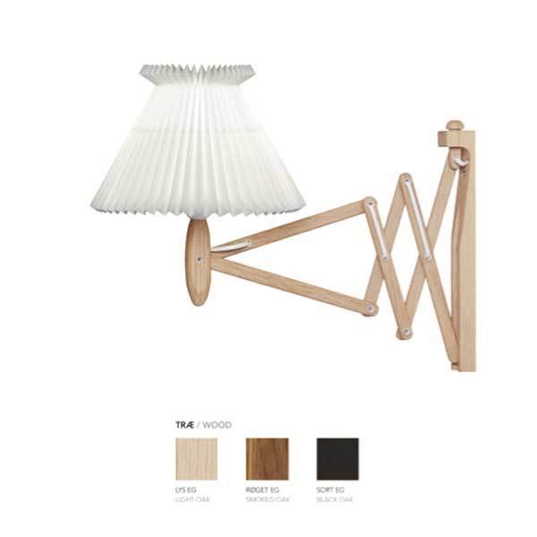 Køb Le Klint Sax 224 væglampe – Sort eg