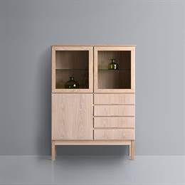 Klim Furniture highboard vitrine 2058 - eg hvidolie