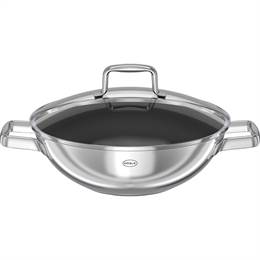 Rösle Moments wok non-stick med glaslåg Ø 28 cm. - Stål