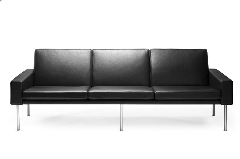 Wegner GE 34 3-personers sofa i Prestige læder